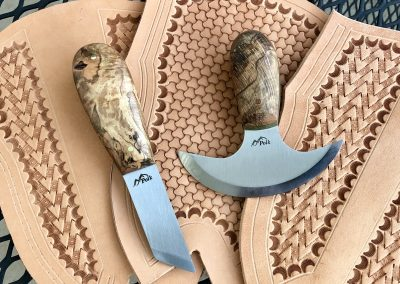 Leathercraft Knives Wood