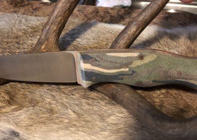 Woodsman in 3V and Camo Micarta
